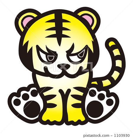 Sitting tiger 1103930