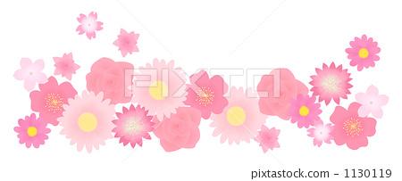 Pink flower background 1130119