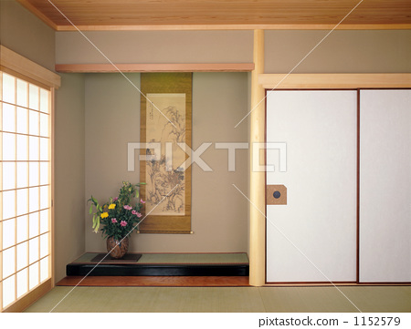 壁龕和室日式房間-圖庫照片[1152...