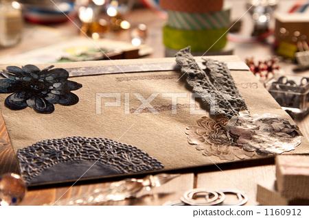 콜라주, 편지, 테이블 1160912