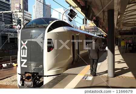 Express Narita express and conductor 1166679