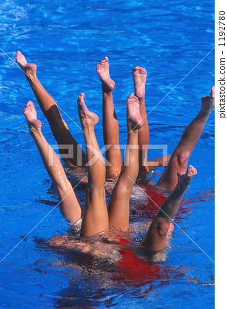 Synchronized Swimming Button 1192780