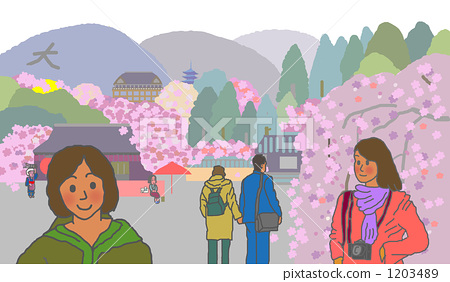Cherry blossom viewing in Kyoto 1203489