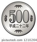 500日元一枚硬幣 1210264