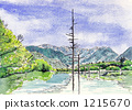 Watercolor picture Kamikochi 1215670