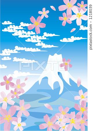Fuji and cherry blossoms 1218039