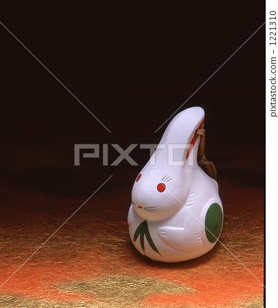 Saga prefecture local toy rabbit garbage doll 1221310