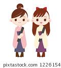 카마를 입은 여자 졸업식 두 사람 1226154