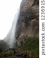Rainwater flowing down the cliff of Roraima 1236915