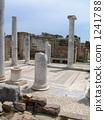 World heritage Greece Delos Island pillar and mosaic dwelling place 1241788