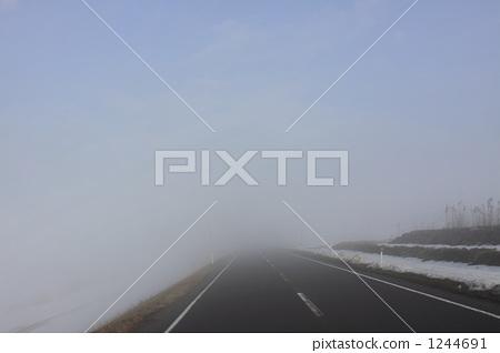 道路 有霧的 霧 1244691