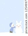 雪兔子在一多雪的天 1254997