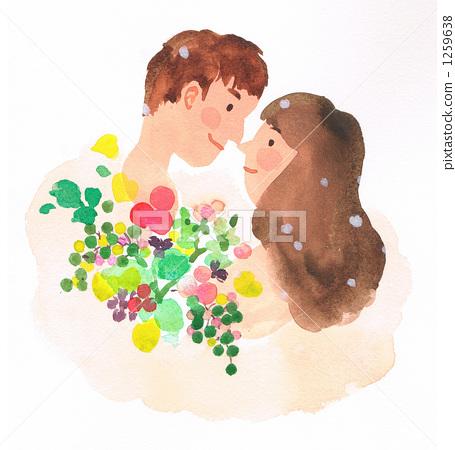 夫婦 情侶 情人 1259638