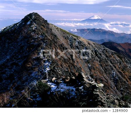 南阿爾卑斯山八頭恐龍和富士山 1284900
