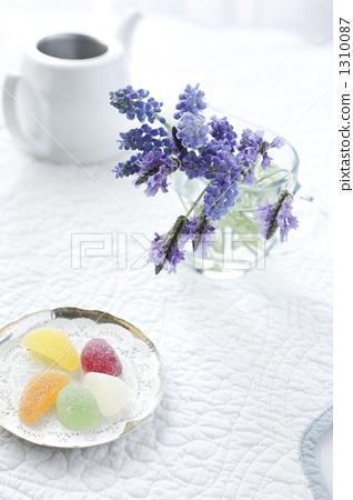 무스카리, 라벤더, 꽃 1310087