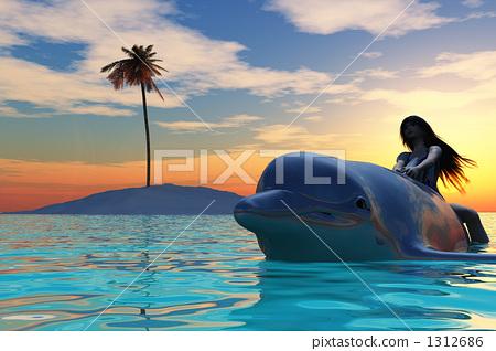 돌고래를 탄 소녀 04 1312686