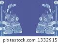 Oda Nobunaga, cool in indigo ◆ There is an image for checking copyright of a book 1332915