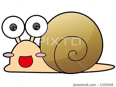 달팽이 갈색 1333008