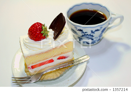 Strawberry Cake and Coffee 1357214