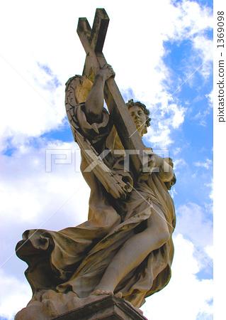 이탈리아 로마 세인트 천사 성 힘차게 내딛는 엔젤 1369098