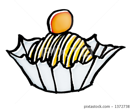 mont blanc cake, snack, illustration 1372738