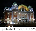 nakanoshima town hall, nakanoshima hall, lit up 1387725