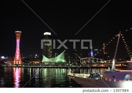 고베 포트타워, 코베 포트타워, 객선 1397984
