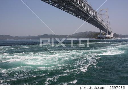 소용돌이, 해수면, 도쿠시마 현 1397986