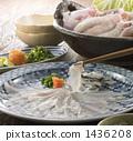鍋裡煮好的食物 用鍋烹飪 煮河豚 1436208