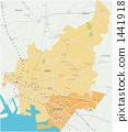 แผนที่ของเมืองฟุนะบะชิและเมืองนาระชิโนะ 1441918