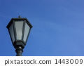 Sky image with street lights (sideways 2) 1443009