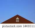 Sky image with small window and roof (sideways) 1443011