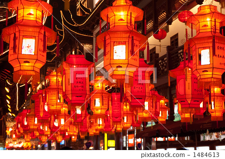상하이 예원 등불 축제 1484613