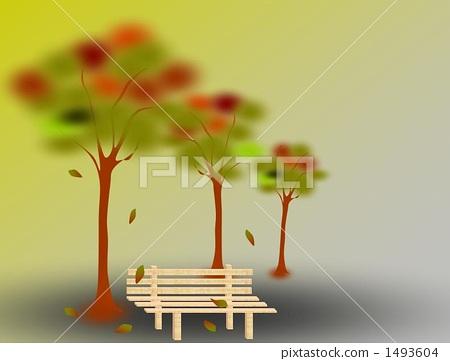 가을 벤치 1493604