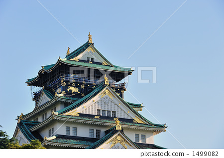 Osaka Castle oriented diagonally 1499082