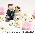 흰 꽃과 신부 캔들 1504469