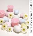 도라제과 분홍색 꽃의 촛불 1504481