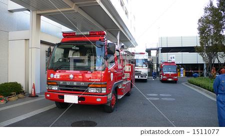 Stock Photo: fire engine, fire-engine, firetruck