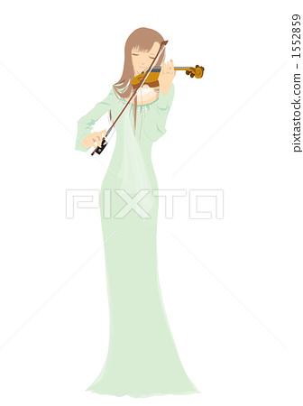 小提琴手的长礼服的形式 1552859