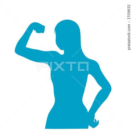 A woman who takes a pose 1559632