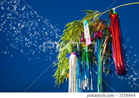 Tanabata decoration and night sky 1559964