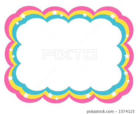 frame  rainbow  background material stock illustration  1574125  pixta rainbow fish images clipart rainbow fish clip art template