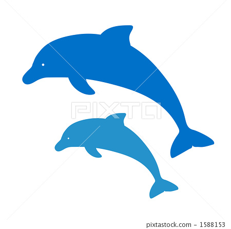 dolphin silhouette silhouettes stock illustration 1588153 pixta