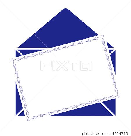 留言卡/藍色 1594773