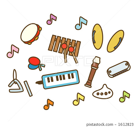 Various music educational instruments 1612823
