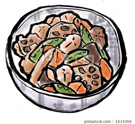 Illustration on cooking Chikuzen stew 1614266