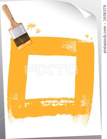 quadrilateral, brush, writing brush 1636376