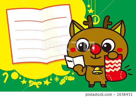 A red nose reindeer's message card 1658451