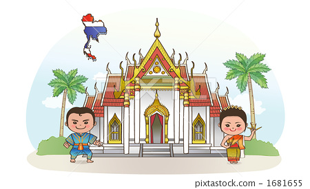 kingdom of thailand, person, temple 1681655