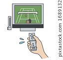 Tennis with wii remote control 1689132